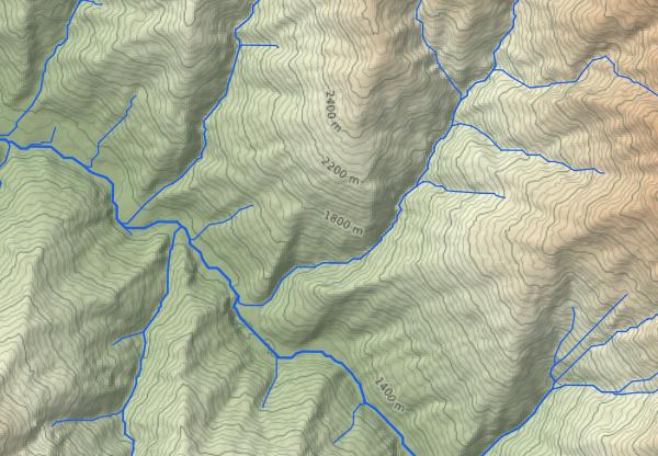 ЦМР вместе с гидрографической сетью позволяет создать основу всего исследования. Без понимания рельефа невозможно искать Пайтити.