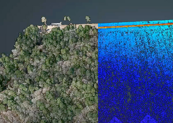 Phoenix LiDAR - separate ground and forest