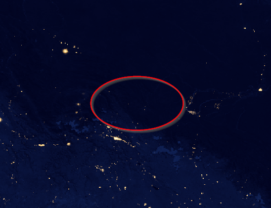 Black Marble - Suomi NPP night image over Paititi research area