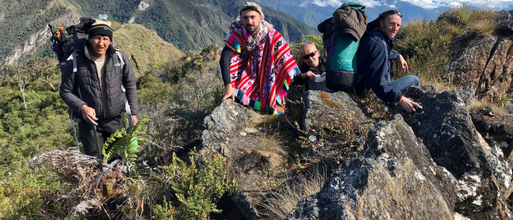 Paititi Research team in Peruvian mountains