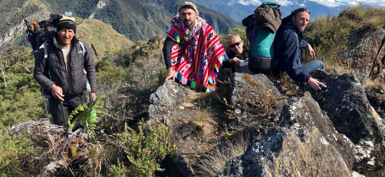 Paititi Research team in Peruvian mountains