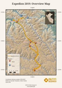 Paititi Research - карта экспедиции 2019, Куско, Перу